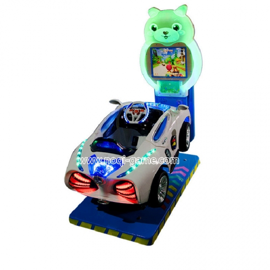 Noqi vintage car amusement park kiddie ride with monitor