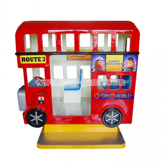 Noqi London Bus 4 seats kiddie amusement ride for sale