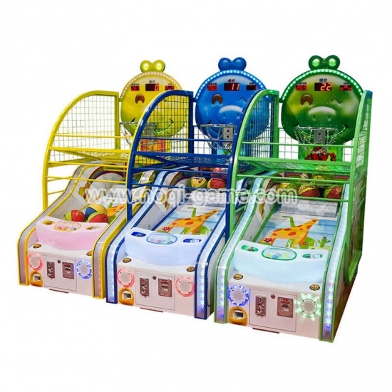 Kids arcade basketball hoop game machine with prize