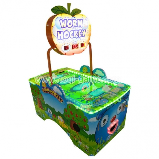 Noqi 2 players worm air hockey table game for mall