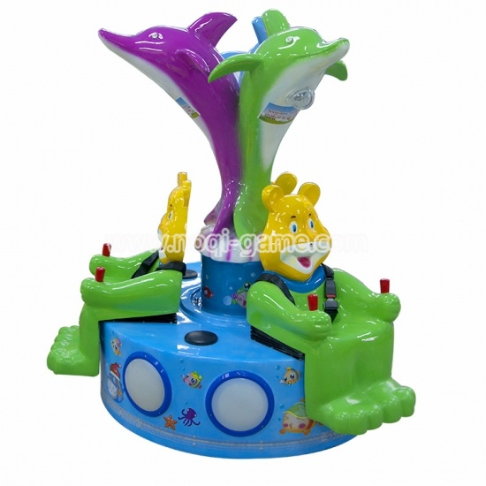 Noqi lovely design bear ride amusement game machine for kids