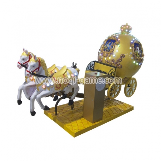 Nice fiberglass indoor kiddie ride Royal carriage for 4 players