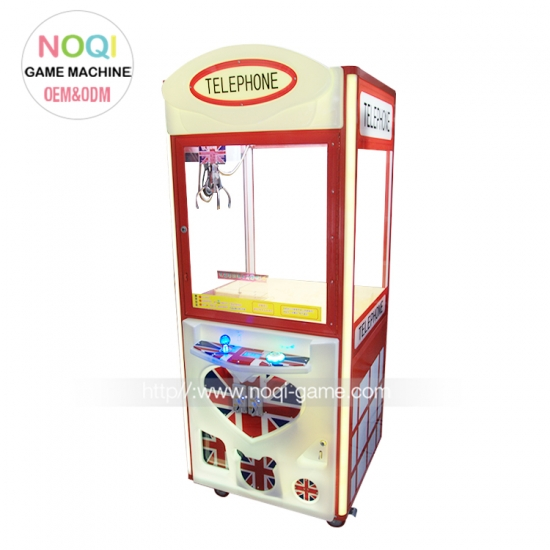 Noqi high standard Telephone arcade crane machine