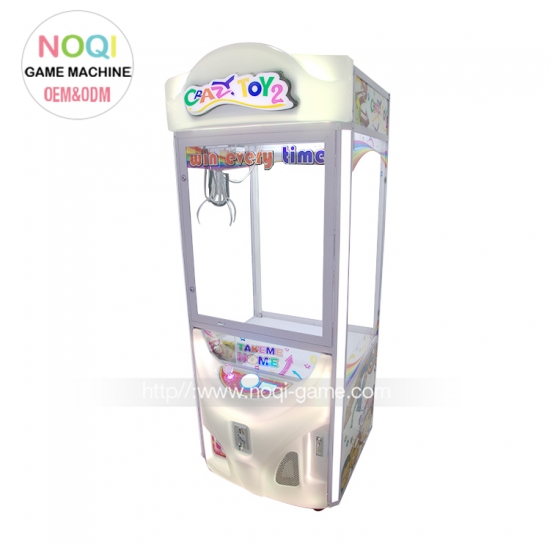 Noqi Crazy Toy 2 arcade kids crane claw machine for sale