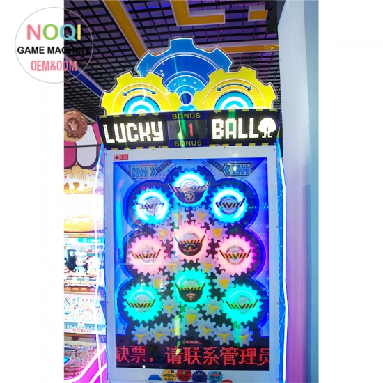 Lucky ball ticket redemption game machine