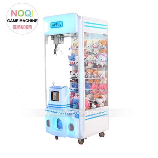 New design apple big crane claw machine with LED lights