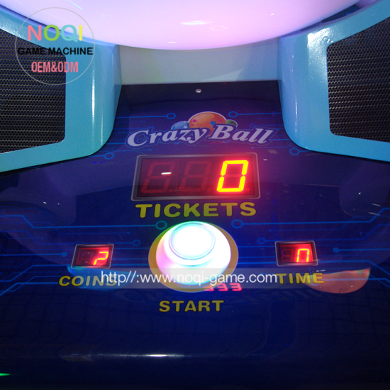 Crazy ball redemption game machine