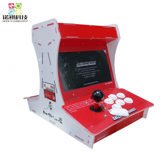 Double players bartop arcade video game machine