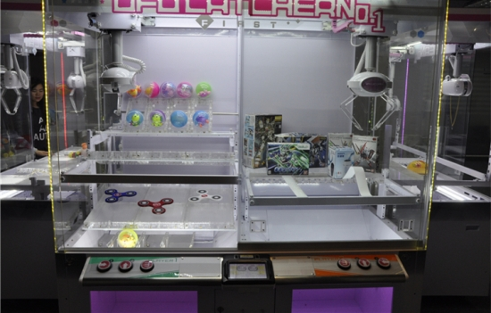 NEWEST UFO catcher MACHINES FOR SALE, MULTI-PLAY MODE 2 PLAYER CLAW CRANE MACHINE